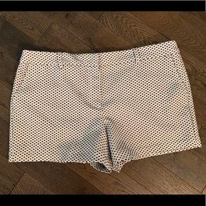 LOFT Shorts. White/Navy.